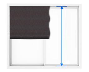 シェードの天井付の丈の測り方
