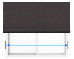 シェードカーテンの巾の測り方