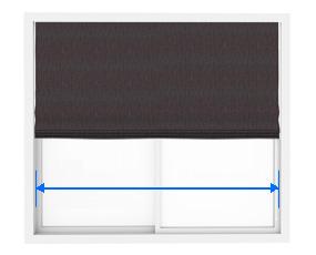 シェードの天井付の巾の測り方