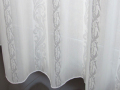【クラシック+モダン】アラベスク柄のストライプのレースカーテン&シェード【GS-1462】ナチュラル・ホワイト