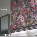 【アメリカン*クラシック】シックで美しい花柄のドレープカーテン&シェード【HS-7101】レッド&パープル