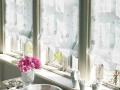 フレンチ ビンテージ】スパンコールの更紗風刺繍のレースカーテン&シェード【HS-8534】ホワイト