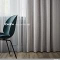 【ミッドセンチュリー】サークル・デザインの遮光カーテン&シェード【RX-3321】ナチュラルグレー