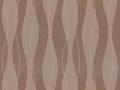 【ミッドセンチュリー】波形ストライプの幾何学柄の遮光オーダーカーテン&シェード【RX-4297】ブラウン
