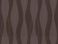 【ミッドセンチュリー】波形ストライプの幾何学柄の遮光オーダーカーテン&シェード【RX-4298】ダークブラウン