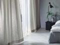 【フレンチ ビンテージ】生い茂る葉っぱのドレープカーテン&シェード【RX-8073】アイボリー