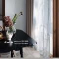 【ナチュラル ビンテージ】可憐な花の刺繍のレースカーテン【RX-8002】アイボリー