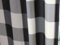 【ミッドセンチュリー】ブロック・チェック柄のオーダーカーテン&シェード【SC-1037】ブラック&ホワイト
