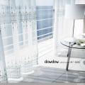 【ゴシック+モダン】クラシック幾何学柄の刺繍のレースカーテン【SC-4355】ナチュラルホワイト