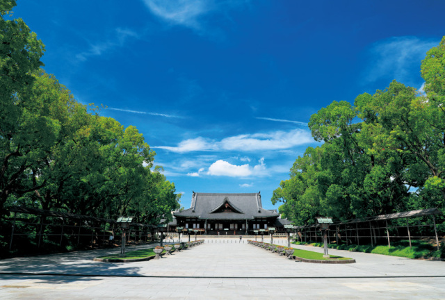 ポストカード2020-4南参道から神殿を望む