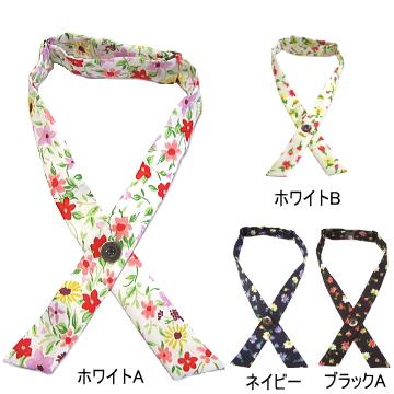 クロスタイ 花柄 オーストリア・オッテン社製 日本製 バンブー生地 メール便 送料無料