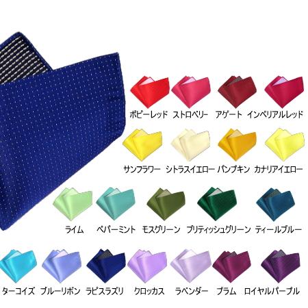 ポケットチーフ ピンドット パーソナルカラー 5枚セット 送料無料