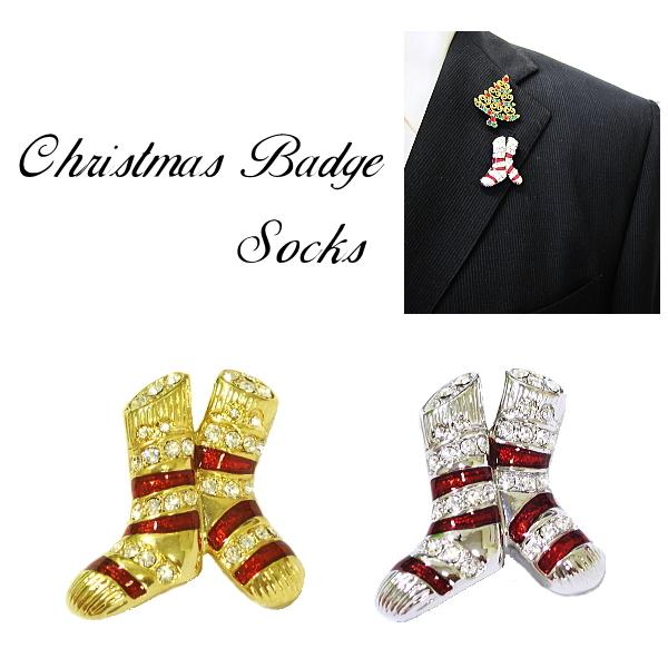 バッチ クリスマス 靴下 メール便 送料無料