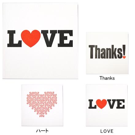 【ミニカード】Love&Thanks/イギリス・Blush Publishing社製・封筒付