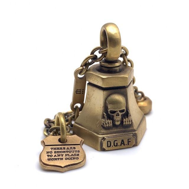 スカルガーディアンベル真鍮製