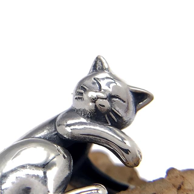 猫のイヤーカフ、snd111、シルバー925製