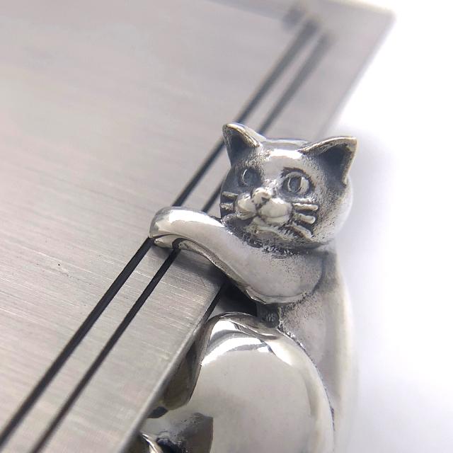 猫のイヤーカフ、snd112、シルバー925製