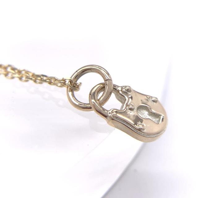 錠前のチャームネックレス、CH04、10kゴールド製