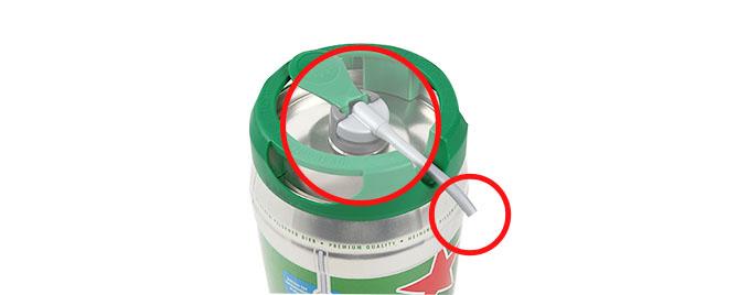 ビール漏れ箇所の画像