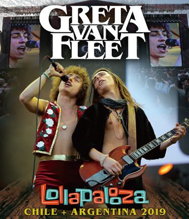 GREAT VAN FLEET - LOLLAPALOOZA CHILE + ARGENTINA 2019 (1BDR)