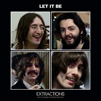 THE BEATLES - LET IT BE: EXTRACTIONS (MULTI-CHANNEL SEPARATIONS 2021) (1CDR)