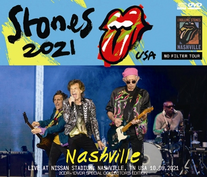 THE ROLLING STONES - LIVE AT NISSAN STADIUM, NASHVILLE, TENNESSEE =NO FILTER US TOUR 2021 (2CDR+1DVDR)