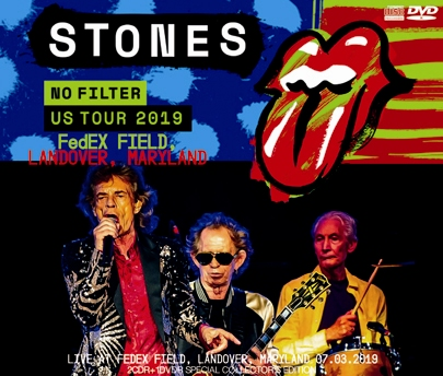 THE ROLLING STONES - NO FILTER US TOUR 2019: FedEX FIELD, LANDOVER, MARYLAND (2CDR+1DVDR)