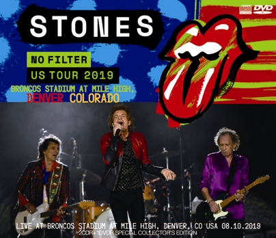 ROLLING STONES - NO FILTER US TOUR 2019- BRONCOS STADIUM AT MILE HIGH, DENVER, COLORADO(2CDR+1DVDR)