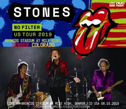 ROLLING STONES - NO FILTER US TOUR 2019- BRONCOS STADIUM AT MILE HIGH, DENVER, COLORADO(2CDR+1DVDR)