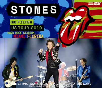 THE ROLLING STONES - NO FILTER US TOUR 2019- HARD ROCK STADIUM, MIAMI, FLORIDA(2CDR+1DVDR)