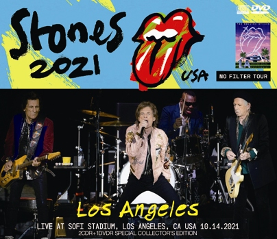 THE ROLLING STONES - LOS ANGELES = NO FILTER US TOUR 2021(2CDR+1DVDR)