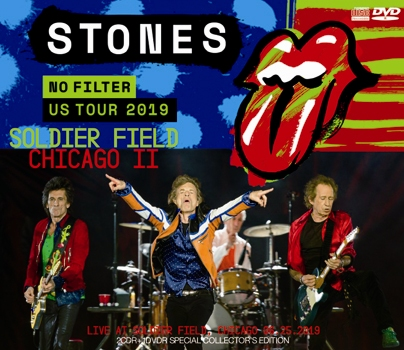 ROLLING STONES - NO FILTER US TOUR 2019: SOLDIER FIELD, CHICAGO II (2CDR+1DVDR)