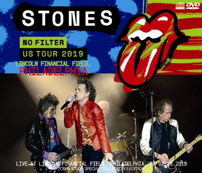 THE ROLLING STONES - NO FILTER US TOUR 2019: LINCOLN FINANCIAL FIELD, PHILADELPHIA (2CDR+1DVDR)