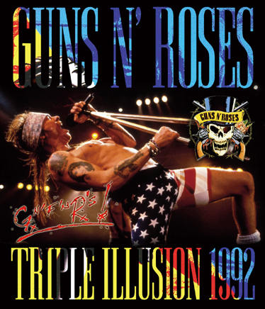 GUNS N' ROSES - TRIPLE ILLUSION 1992 - 3RD EDITION (1BDR)