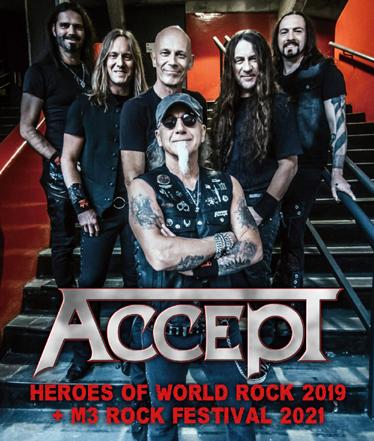ACCEPT - HEROES OF WORLD ROCK 2019 + M3 ROCK FESTIVAL 2021 (2BDR)