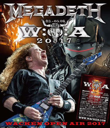 MEGADETH - WACKEN OPEN AIR 2017
