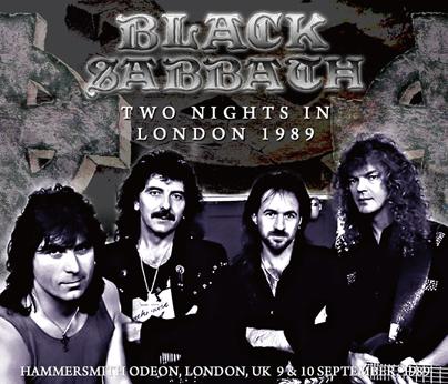 BLACK SABBATH - TWO NIGHTS IN LONDON 1989 (3CDR)