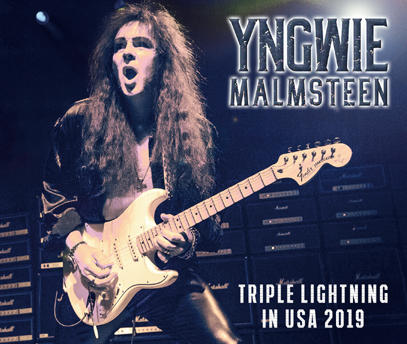 YNGWIE MALMSTEEN - TRIPLE LIGHTNING IN USA 2019 (4CDR)