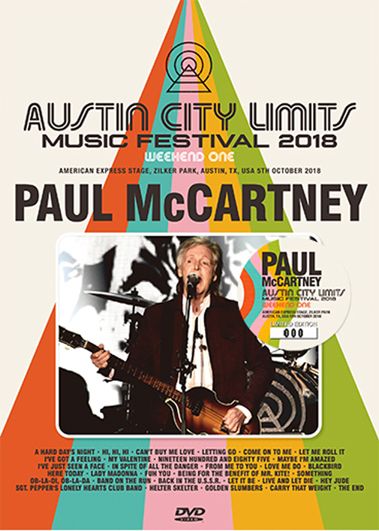PAUL McCARTNEY - AUSTIN CITY LIMITS 2018 WEEKEND ONE: DVD VERSION