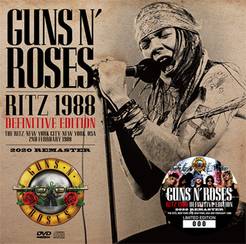 GUNS N' ROSES - RITZ 1988 DEFINITIVE EDITION: 2020 REMASTER(1CD+1DVD)