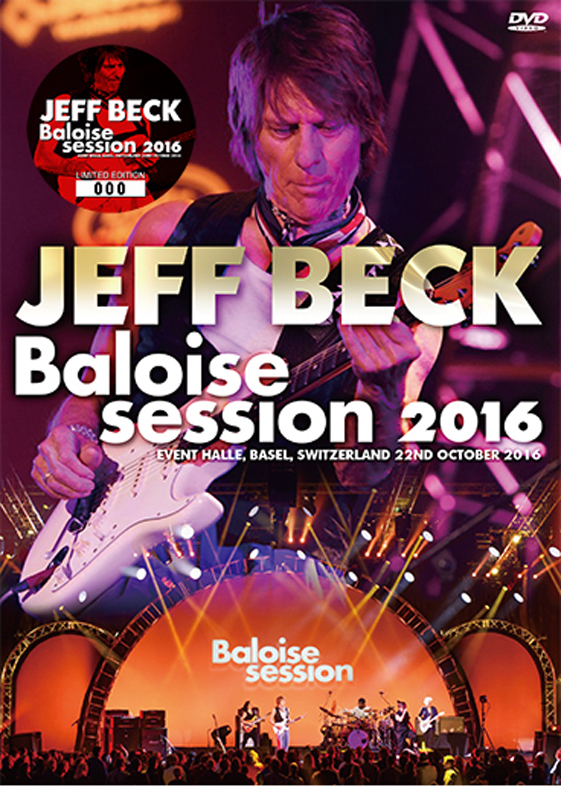 JEFF BECK - BALOISE SESSIONS 2016 DVD