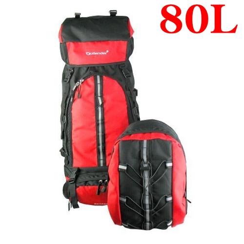 送料無料大容量80Lアウトドア旅行登山リュックサック、大容量ザック