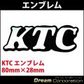KTC京都機械工具エンブレム 80mm×28mm 工具箱や車のドレスアップに!