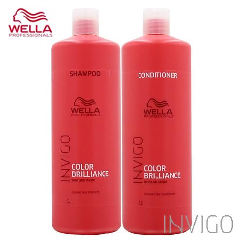 WELLA ウエラ インヴィゴ カラーブリリアンス カラーヘア シャンプー 1000ml&バイブラントカラー コンディショナー 1000ml セット