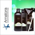 Amatora アマトラ クゥオ ヘアバスes(シャンプー) 1000ml&コラマスク(しっとりトリートメント) 1000g 詰替えセット 専用ボトル・ポンプ付