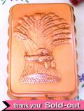 1930年代:レア!立体的な麦の束♪英国アンティークの長方形の大きなコッパーモールド