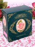 <CHELSEA GARDEN TEA>イングリッシュグリーンのお箱の「ガーデンローズティー:6袋BOX」