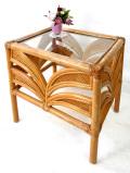 <英国ビンテージ家具>いいお味になったバンブー♪カントリーな空気のスモールテーブル