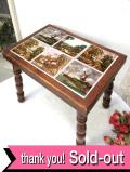 1940年代:英国カントリーサイドの風景のタイルたち♪オールドオークが美しいスモールテーブル