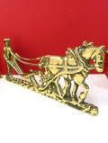 1920年代:英国アンティークの無垢の真鍮の農耕馬の大きなオーナメント